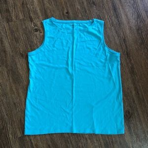 Coldwater Creek Blue Tank Top in size 1X